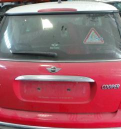 tailgate mini mini r50 r53 3 doors 2001  [ 1536 x 864 Pixel ]