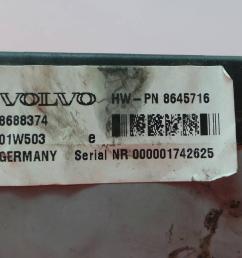 fuse box hw pn 8645716 volvo xc70 cross country 295 2 4 t [ 1536 x 864 Pixel ]