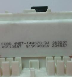 fuse box 4m5t 14a073 dj 519100804 ford focus ii da  [ 1536 x 864 Pixel ]