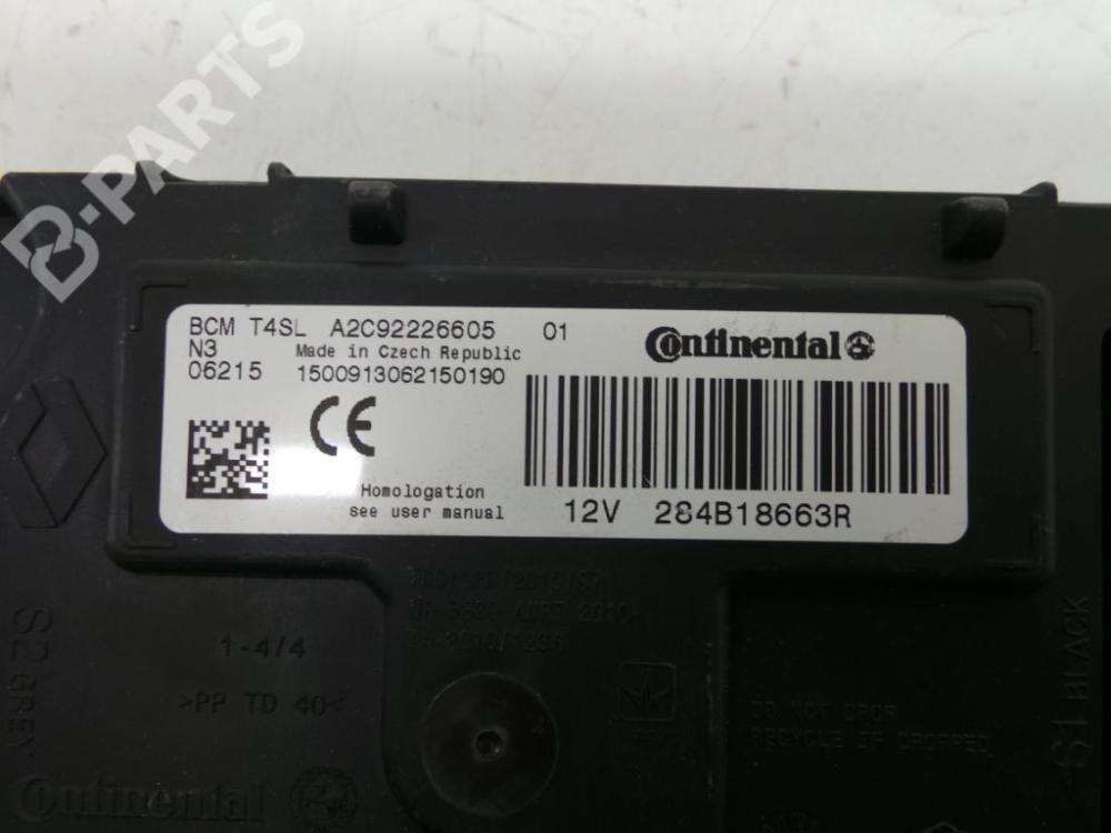 medium resolution of fuse box a2c92226605 284b18663r renault clio iv bh 1 5