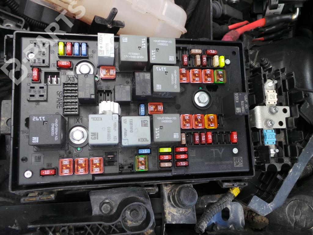 hight resolution of fuse box 13368641 opel astra j p10 1 7 cdti 68