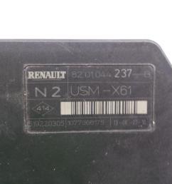 fuse box 8201044237b 519220305 usmx61 renault kangoo grand kangoo kw0  [ 1024 x 768 Pixel ]