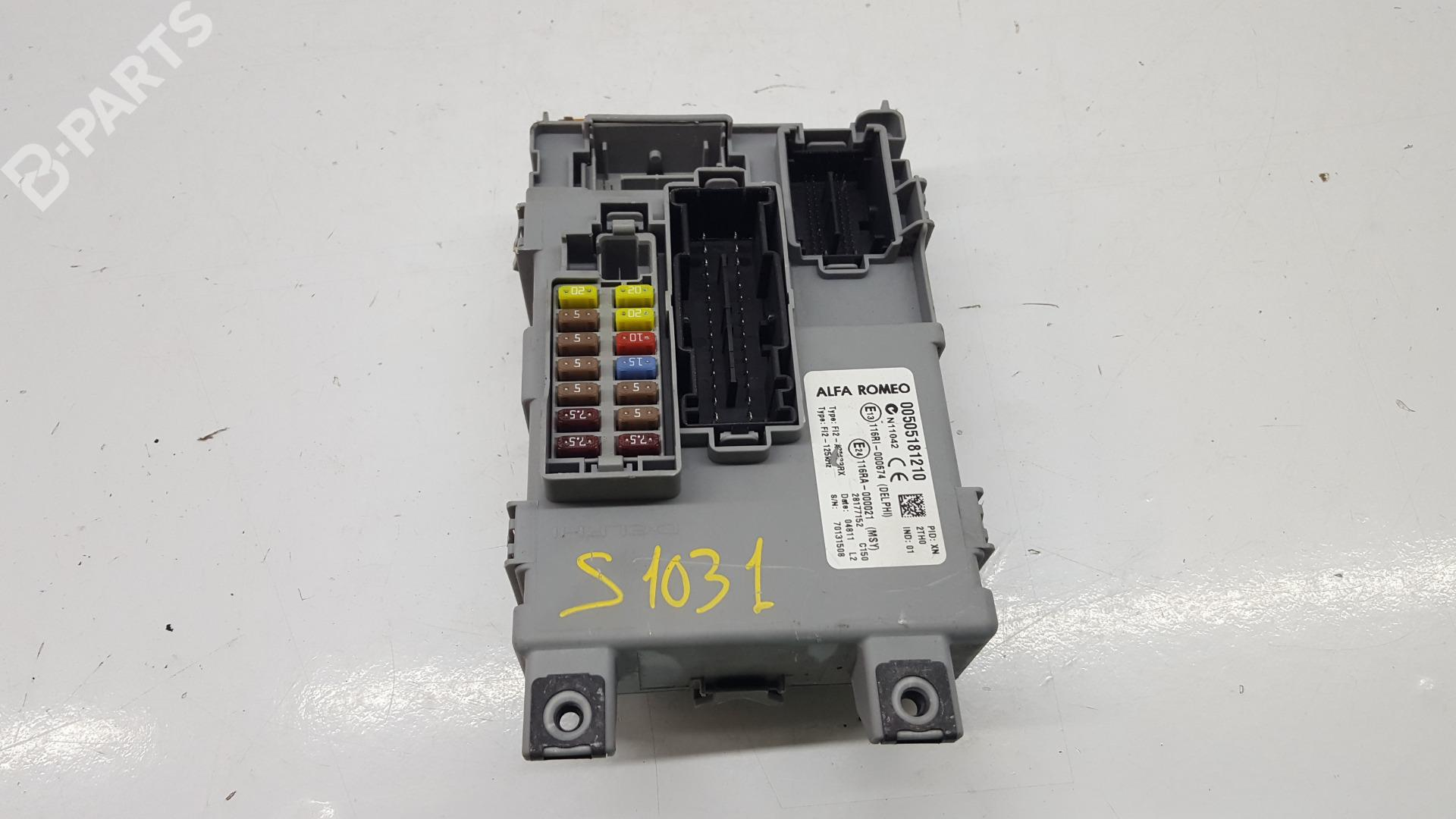 hight resolution of fuse box 00505181210 alfa romeo mito 955 1 4 955axb1b 3