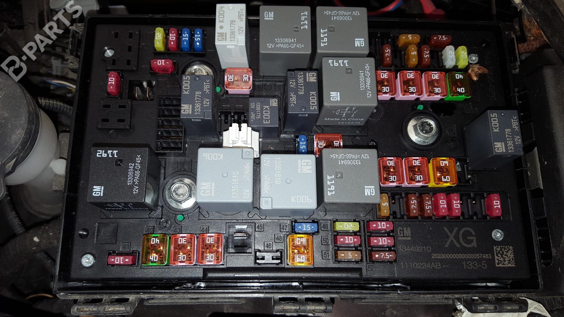 hight resolution of fuse box opel astra j p10 1 6 cdti 68 b parts astra j fuse box problems astra j fuse box