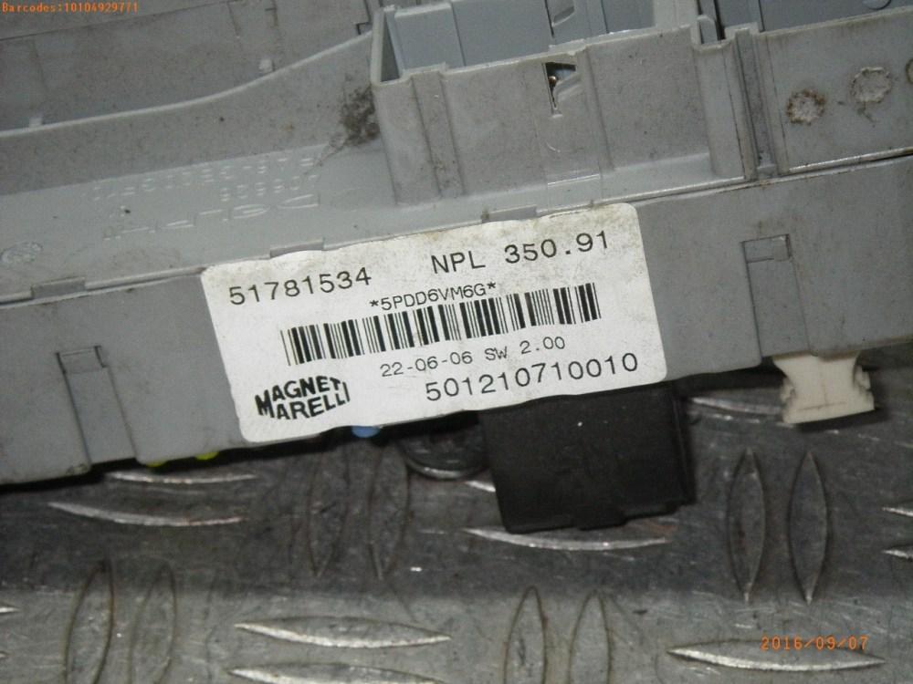 medium resolution of fuse box 51781534 fiat fiat idea 350 1 4 5 doors
