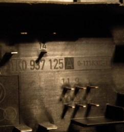 fuse box 1k0937125a audi audi a3 sportback 8pa 2 0 tdi 16v [ 1260 x 945 Pixel ]