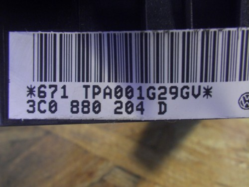small resolution of  fuse box 3c0880204d vw vw passat variant 3c5 2 0 tdi