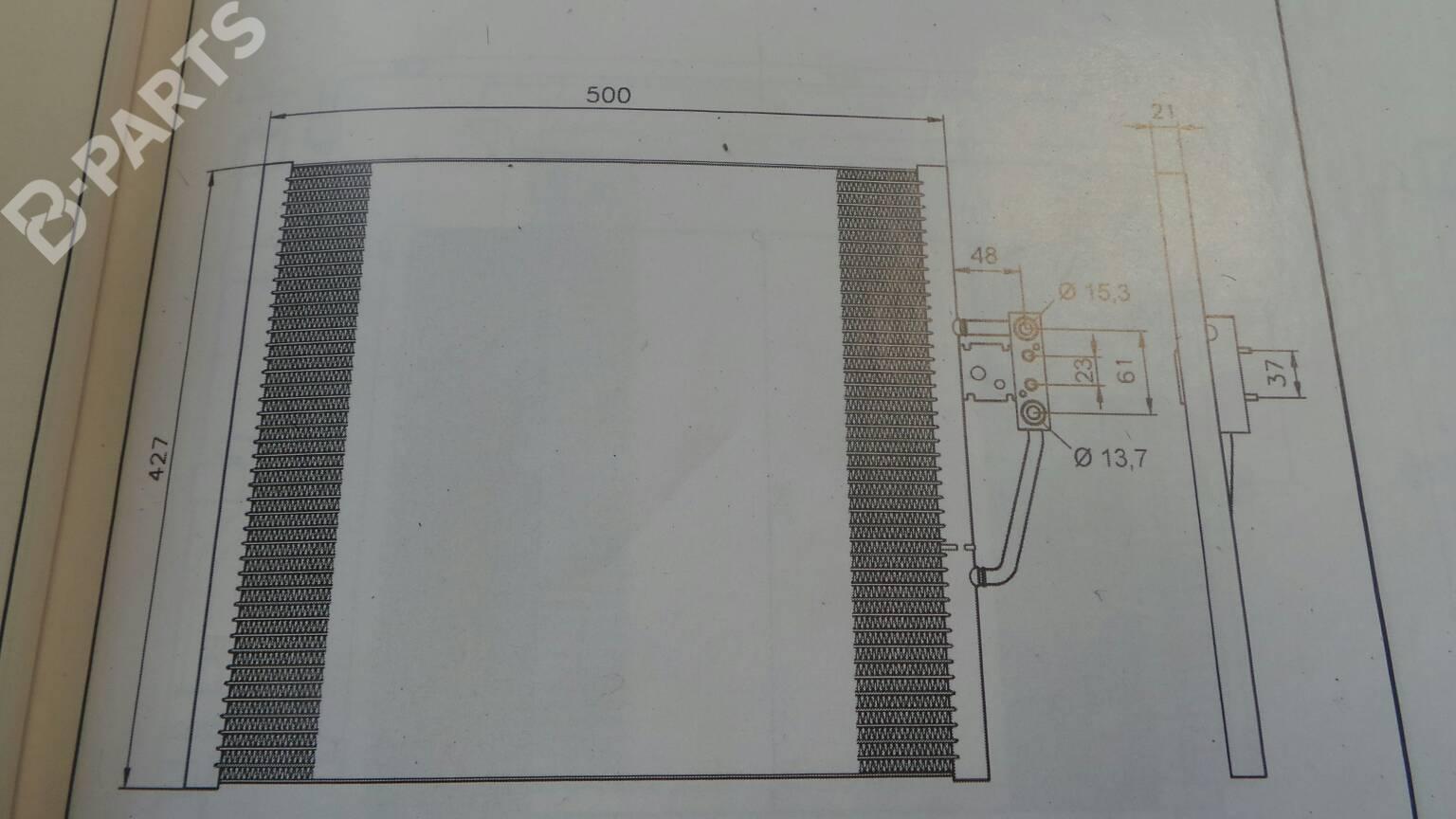 hight resolution of  ac radiator 1711 1740 7870 bmw 5 e39 520 i 4