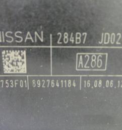 fuse box 284b7 nissan qashqai qashqai 2 i j10 jj10  [ 1536 x 864 Pixel ]