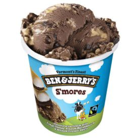 $7 per pint BUY NOW If there's one flavor combination that will bring you back to warm summertimenights, we think it might just be this guy. Gather around the campfire with this decadent blend of chocolate ice cream, toasted marshmallow, fudge chunks, and a graham cracker swirl.