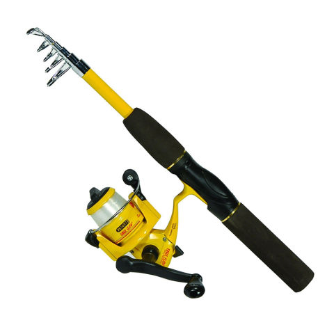 Eagle Claw Pack-It Telescopic Spinning Combo fishing pole