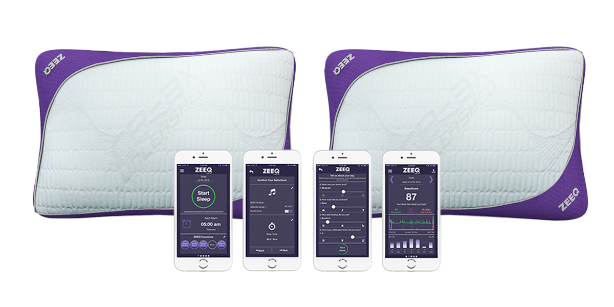 Kickstarter Debuts ZEEQ Smart Pillow With Built In