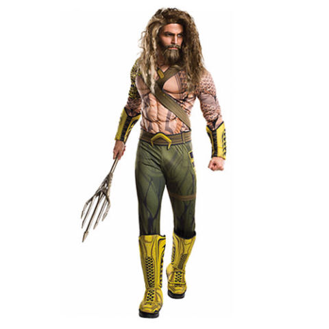 $50 BUY NOW No one really has the body of Jason Momoa's Aquaman, but luckily for us, there's a muscle suit to give us those washboard abs and ripped arms. You might want to start growing out your hair because the wig is not included.