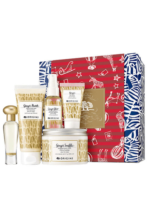 $55 BUY NOW For healthy skin this holiday season, give the gift of ginger from Origins. The healing spice stars in this limited-edition set featuring whipped body cream and wash, oil, hand lotion, and fragrance for an intense soak and aftermath.