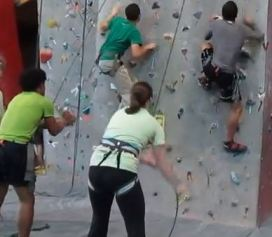#WestPark MyCom youth leaders belay and climb with the Cleveland Metroparks Youth Outdoors program.