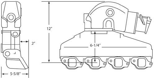 Manifold Kit Exhaust Barr Style Marine GM 454 502 4 Inch