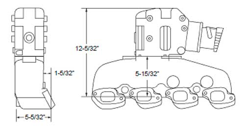 Manifold, Exhaust Kit, Mercruiser GM 7.4L-454, 8.2L-502 V8