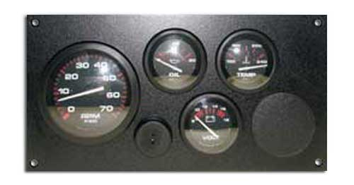 99 Instrument Panel For Single Marine Engine Inboard With Key Switch