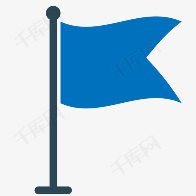 藍色旗幟素材圖片免費下載_高清png_千庫網(圖片編號8694046)