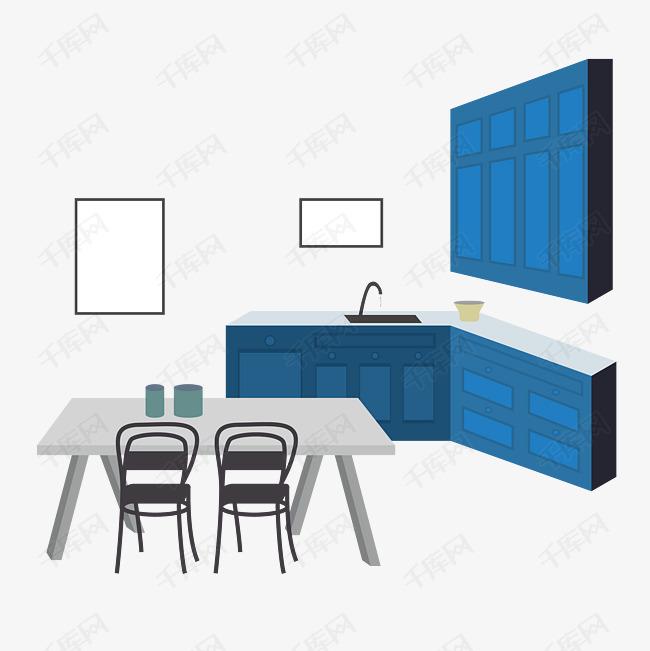 table kitchen glazed cabinets 扁平风格手绘插画室内设计客厅餐桌厨房素材图片免费下载 高清psd 千库网 扁平风格手绘插画室内设计客厅餐桌厨房