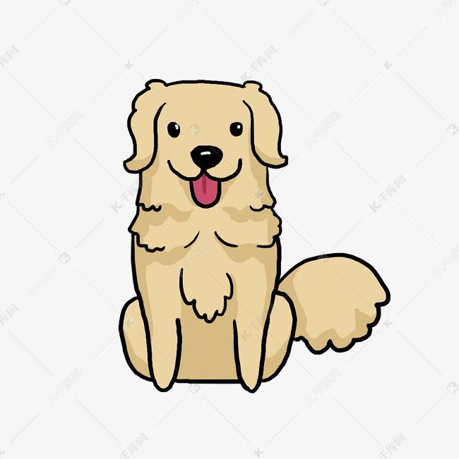 卡通狗狗兒童涂鴉Q版漫畫素材圖片免費下載_高清psd_千庫網(圖片編號10502684)