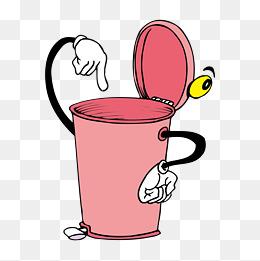 kitchen trash bin inexpensive islands 【卡通垃圾桶素材】免费下载_卡通垃圾桶图片大全_千库网png