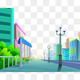 卡通馬路素材_卡通馬路_卡通過馬路_馬路素材 - www.qiqidown.com