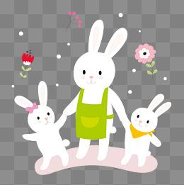 【兔子媽媽兔子寶寶素材】免費下載_兔子媽媽兔子寶寶圖片大全_千庫網png
