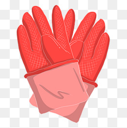 kitchen gloves white knobs for cabinets 厨房手套素材 免费下载 厨房手套图片大全 千库网png 手绘红色手套插画