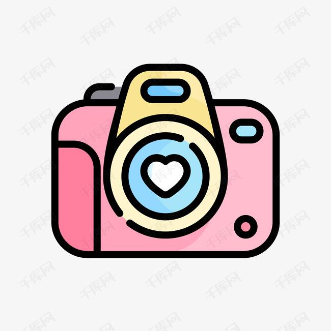 粉紅相機卡通免扣素材圖片免費下載_高清psd_千庫網(圖片編號10599312)