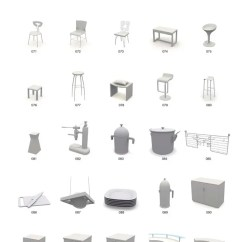 Kitchen Dining Chairs Small Storage 餐椅模型橱柜龙头厨房摆件模型图片素材 Max格式 下载 模型素材大全 模型 餐椅模型橱柜龙头厨房摆件模型