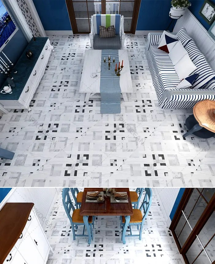 vintage hong kong style restaurant anti slip floor tile imitation mosaic tea shop tile kitchen wall tile