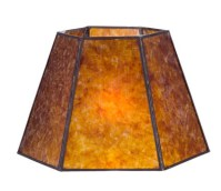 Antique Amber Hexagon Style Mica Lampshade 05702M | B&P ...
