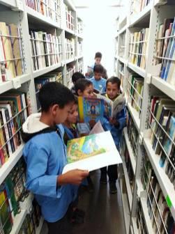 المكتبة المتنقلة في بلدية تعظميت (3)