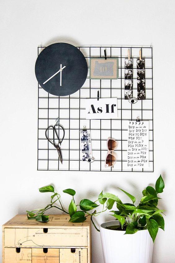 Wire Wall Grid Decor Ideas Diyideas B Design