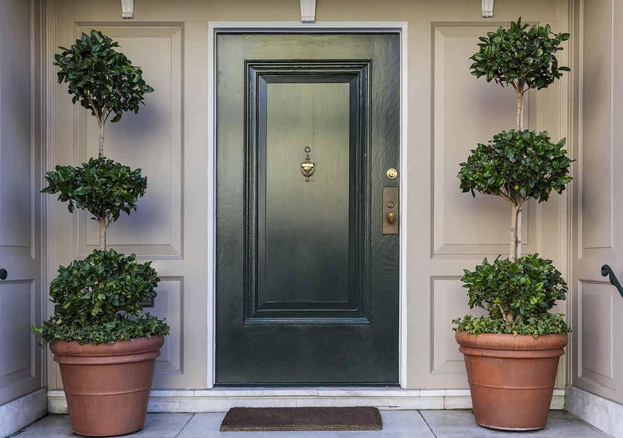 Solid Maple Front Door