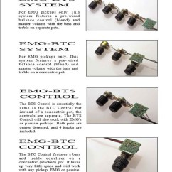 Emg Wiring Diagram Pa2 Oil Burner Control The Bass Player S Vault By Ggc Bartolini Offers Several Diagrams