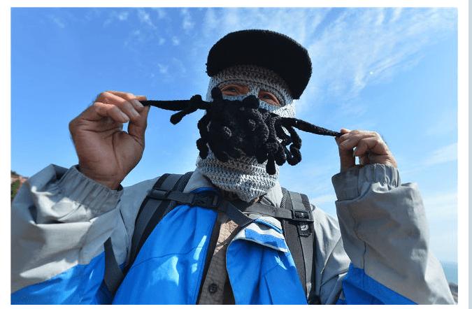 中国生まれの触手系ニットマスクで視線独り占め