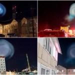 怪奇「夜空に浮かぶ巨大な発光体」原因はロシアのミサイル発射実験か