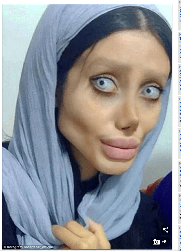 イランのアンジェリーナ・ジョリー