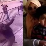 監視カメラが見た奇跡の瞬間!3階から落ちた5歳児を真下の警察官が…