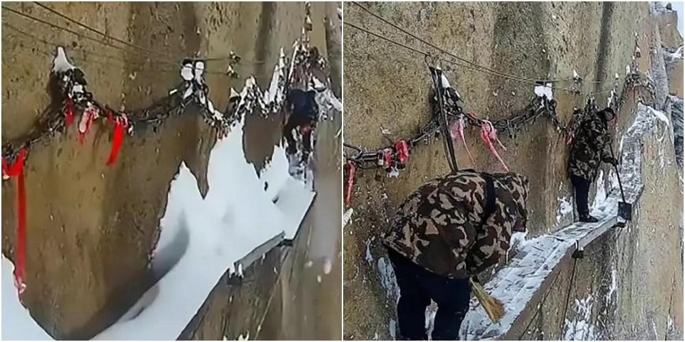 世界一危険な雪かき