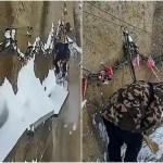 世界一危険な雪かき!標高700mの崖で命をかけるブレイブメンたち