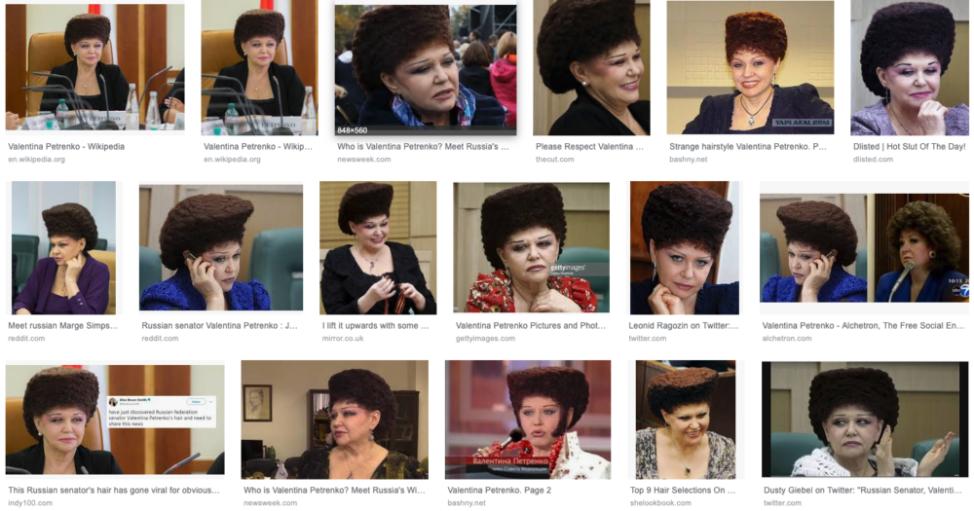 ロシアの凄い髪した政治家