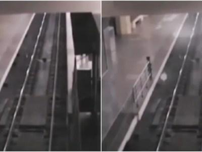 監視カメラに映った幽霊電車