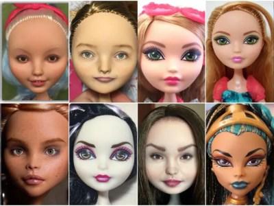 激盛りメイク人形をスッピン加工職人