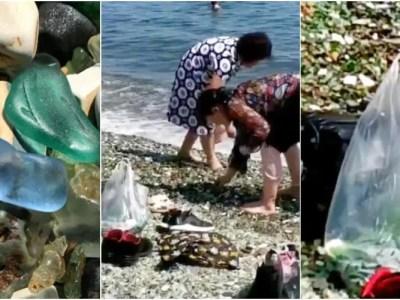 ロシアのビーチで中国人観光客の団体にブーイング
