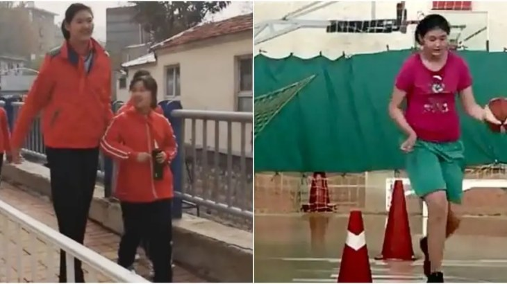 世界一背の高い中国人少女は11歳で身長2m10cm突破しギネス確実