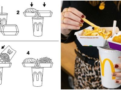 マクドナルド公式バリューセットを片手で食べる方法