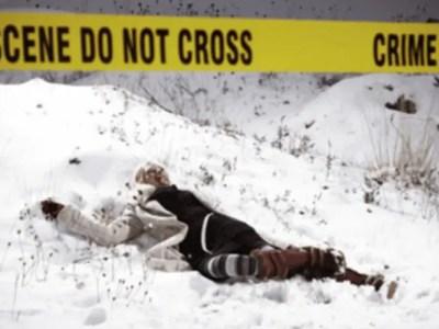 嘘の殺人事件で警察官に除雪作業させた男